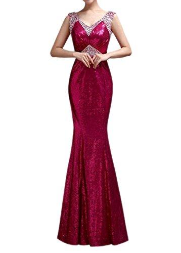 Ikerenwedding - Robe - Mermaid - Femme Small red