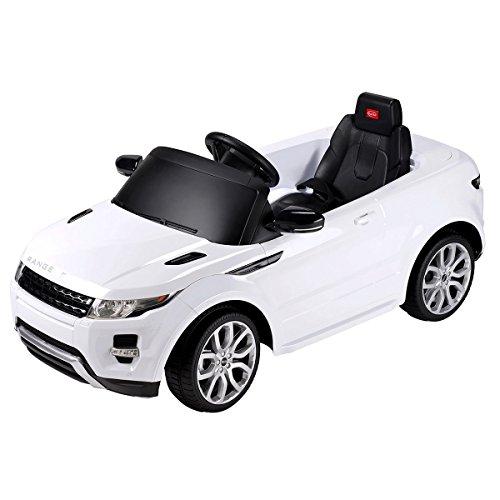 Charles Bentley Evoque Range Rover - Lizenziertes elektrisches Kinderauto mit Fernbedienung - 12 V - Weiß