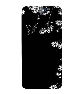 printtech Flower Butterfly Back Case Cover for HTC One A9