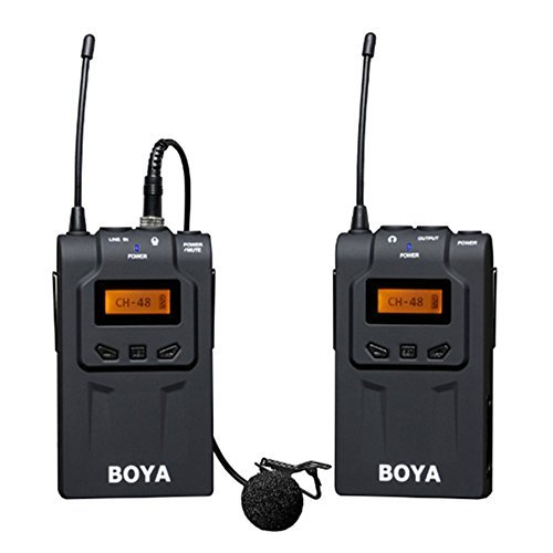 Boya BY-WM6 Ultra High Frequency UHF Wireless Lavalier Microphone System for Canon, Nikon, Sony DSLR Camera Audio Recorder  available at amazon for Rs.17000