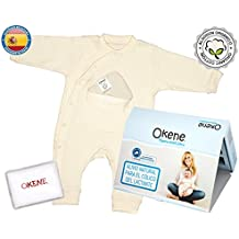 Pijama Orgánico Bebé AntiCólico de Algodón 100% Orgánico Modelo Sin Pie - Perfecto para Bebes con Cólico del Lactante - Incluye Pack Semillas/Lavanda y Gel