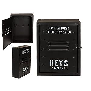 Out of the blue Metall-Schlüsselkasten, Keys, Schwarz, One Size