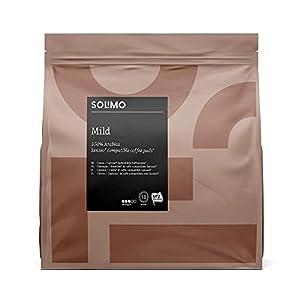 Marchio Amazon- Solimo Cialde Mild, compatibili con Senseo* - caffè certificato UTZ, 90 cialde (5x18 )