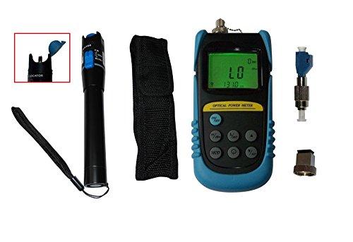 Misuratore di potenza ottico +6 to -70dBm W/ 1mW, con adattatore FC Maschio LC, tester per cavi in fibra ottica