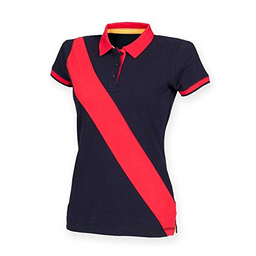 Front RowHerren Poloshirt Navy/ Red