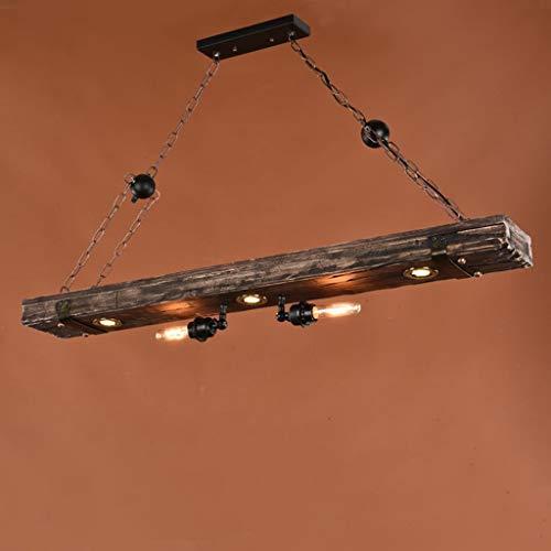 Massivholz Kronleuchter Amerikaner alten ländlichen retro Loft Bar Restaurant Cafe spaziergang Balkon Bar hängenden Lampen E27 stark Anti-oxidant (Alten Kronleuchter)