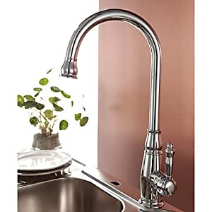 faucet-, Küchenarmatur, (mehr-Optionen Finish), chrom