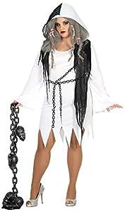 Atosa 17886 Disfraz fantasma adulto XL, talla mujer