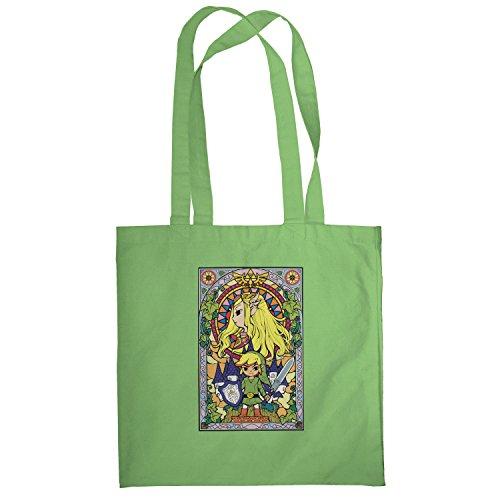 Texlab–Window Link–sacchetto di stoffa Verde chiaro