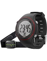 EZON T007 Montre numérique sport pour hommes Montre bracelet extérieur avec sangle thoracique Chronomètre cardiaque Chronomètre d'alarme