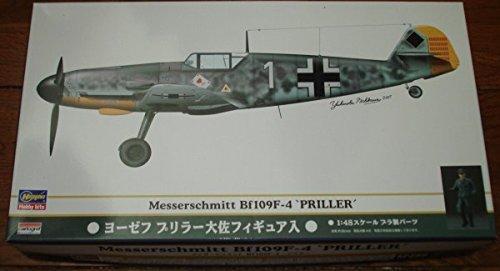51956 1/48 Messerschmitt Bf109F-4 Priller w/Priller Fig by Hasegawa