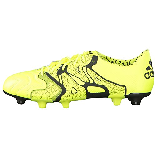 adidas X15.1 FG/AG Leather, Chaussures de football homme Lima / Negro