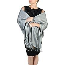 York Shawls Pashmina bufanda femenina- Acabado de borlas - Percha gratuita – Más de 20