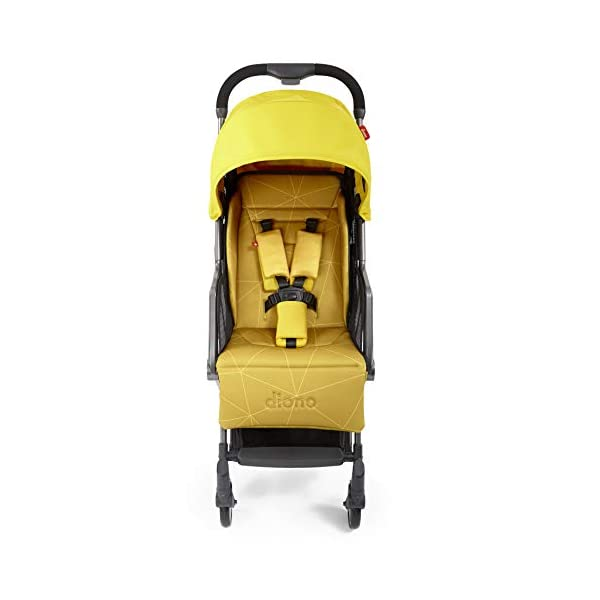 Diono Traverze Compact Luggage-Style Stroller, Yellow Sulphur Diono Luggage Style Stroller: Suitable from birth up to 20 kg the Diono Traverse is the original luggage style stroller to make family travel easy Ultra Lightweight: Only 5.6 kg to help you glide through the world, with neat pull along handle just like your luggage Super Compact Fold = Airplane Friendly: True one hand fold makes traverse super compact to fit most overhead bins 2