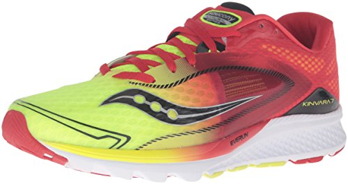 Saucony Kinvara 7, Chaussures de Running Compétition Homme Rouge (Red/Citron)