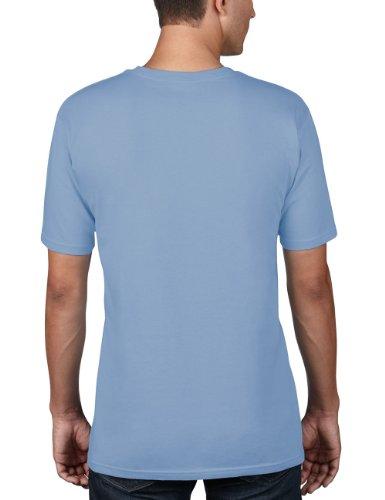 anvil Herren Organic Cotton T-Shirt / 420 Blau (RVR-River Blue)
