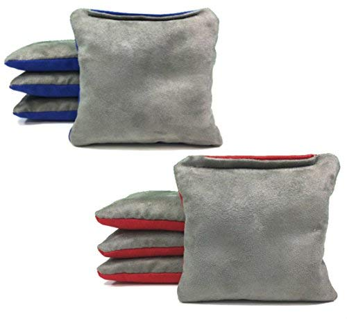 Tailgating Pros Geschlossen vor-Rot Royal Blau Pro-Style Cornhole Taschen Beidseitig Slick & Stick Resin-Filled Wildleder und Ente Leinwand-Set von 8