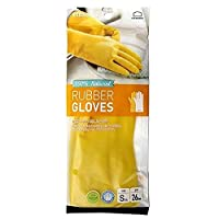 Lock & Lock ETM804Y Soft and Natural Rubber Gloves, Yellow