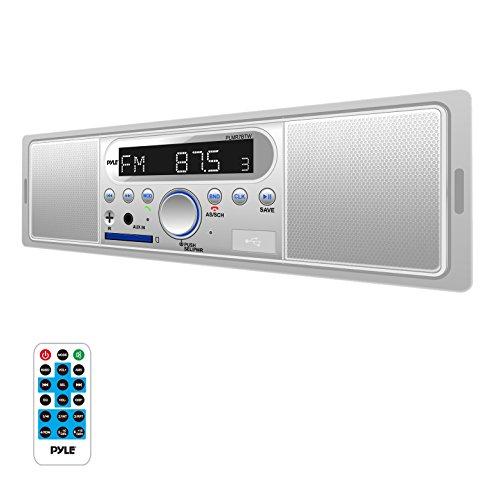 Pyle plmr7btw Marine single-din-INDASH MECHLESS RECEIVER am/fm mit integriertem Lautsprecher und Bluetooth (R)