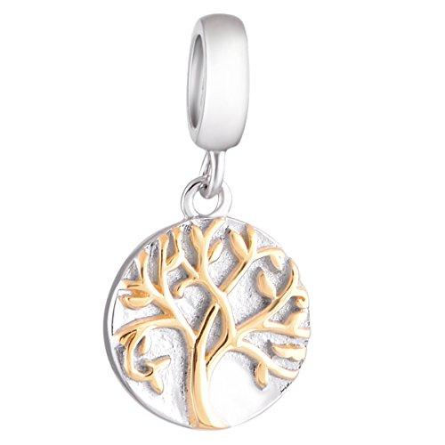 Globalwin Ciondolo Albero della vita Ciondolo in oro argento sterling 925gioielli in argento Lucky Love
