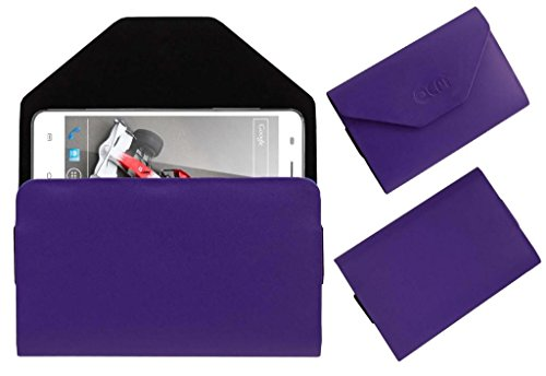 Acm Premium Pouch Case For Xolo Q3000 Flip Flap Cover Holder Purple  available at amazon for Rs.329