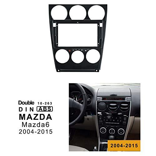 LEXXSON Doppel-Din-Autoradio Einbaurahmen Radioblende für Autoradio 9 Zoll Autoradio Rahmen für Mazda 6 (Baujahr 2004-2015) (2015 Auto Doppel Din Stereo)