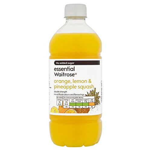Orange, Lemon & Pineapple Double Strength Squash wesentliche Waitrose 750ml