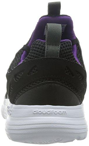 adidas Cloudfoam Sprint, Chaussures de Sport Homme, Noir, Taille Unique Noir (noir essentiel / gris perspective / violet tribal)
