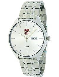 RADIANT Reloj analógico de caballero F.C.BARCELONA - Cadena cromada - BA-17602 Retro