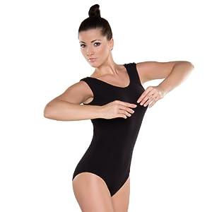 Shepa Damen ärmellos Gymnastikanzug Ballettanzug