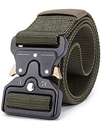 Pragmaticv Cinturón táctico para hombre Cinturón de nylon militar Correa de  cinturón de entrenamiento para exteriores 4b362999929a
