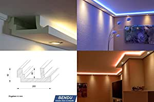 bendu moderne led stuckleisten bzw lichtvoutenprofile f r indirekte wandbeleuchtung plus. Black Bedroom Furniture Sets. Home Design Ideas