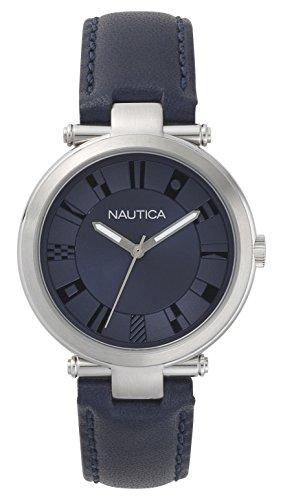 Nautica Femme Analogique Quartz Montre avec Bracelet en Cuir NAPFLS001