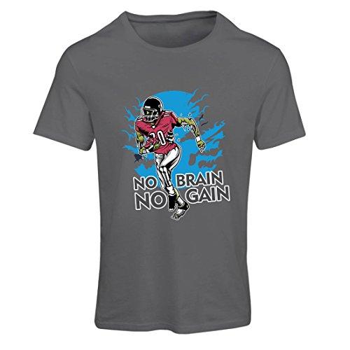 Frauen T-Shirt Kein Gehirn, kein Gewinn! Zombie Football Player - inspirierende Fußball Zitate (X-Large Graphit Mehrfarben) -