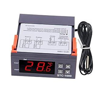 Digitaler Temperaturregler Thermostat-Kalibrierungsregler STC-1000 110-220V AC Celsius- und Fahrenheit-Display Universell einsetzbar mit Sensorfühler Heizen & Kühlen 2 Relaisausgang für die Gärung Gefrierschrank