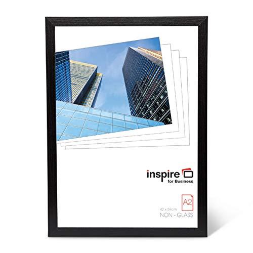Hampton Frames Oxford Qualität schwarzer Holz a2 42x59 cm Zertifikat Foto Rahmen Kein Glas-Öffnungsscheibe OXFA2NG