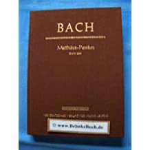 Matthäus-Passion. BWV 244. Studien-Partitur