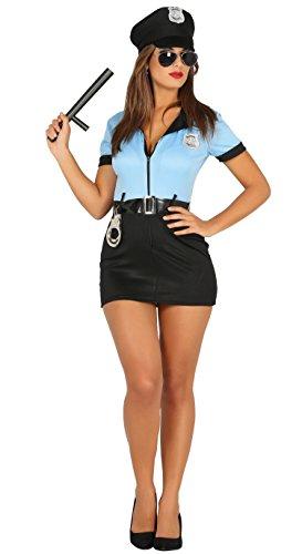 Erwachsene Kostüm Polizistin Für Sexy - Guirca-Kostüm Erwachsene Polizei, Gr. 38-40(88295.0) , Medium