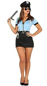 Guirca- Disfraz adulta policía, Talla 42-44 (88296.0)
