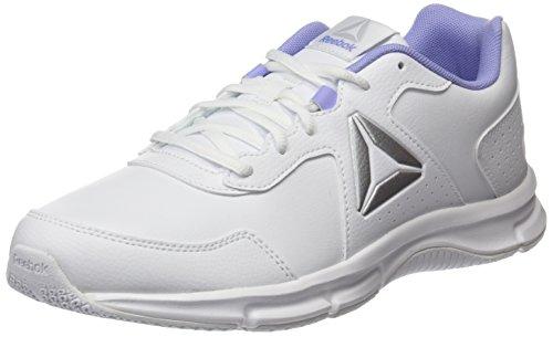 Reebok Express Runner SL, Zapatillas de Running Para Mujer, Blanco (White/Lilac Glow/Silver Met), 40.5 EU