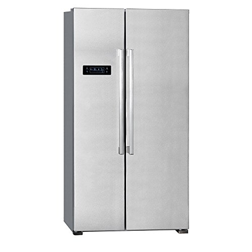 517L Side by Side Kühlschrank Twisteis-Maker EEK A+ Exquisit SBS 550-4 A+ INOX