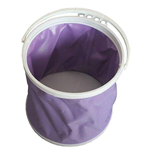 Pliage toile Godet Seaux stylo télescopique lavage Gouache baril,purple