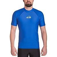 iQ-Company Slim Fit Camiseta con Manga Corta, Hombre, Azul, M