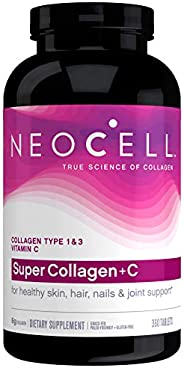 Neocell, Super Collagen+C, Type 1 & 3, Hair, Skin, Nails, Joints, Bones, 6,000 mg, 360 Tablets