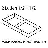 MeinMassivholz Karin Kiefer - Bettschubladen Modul 1 (2 Schubladen, jeweils B 100 cm))