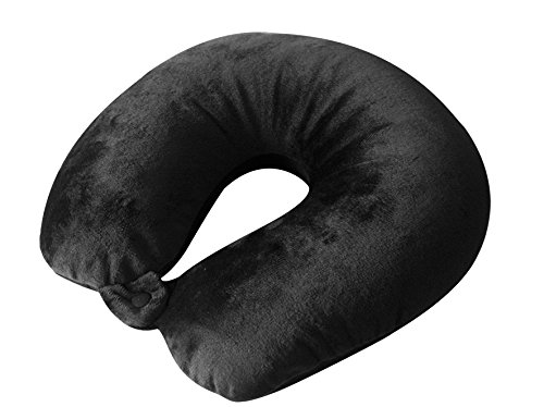Nackenhörnchen Nackenkissen Tigasoft Schwarz flauschig Nackenstütze Neuware 1 Stück