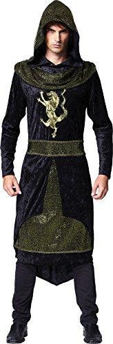 tus Kostüm Ritter mittelalterlich Party Prinz Robe mit Kapuze Outfit UK (Prinz Kostüm Uk)