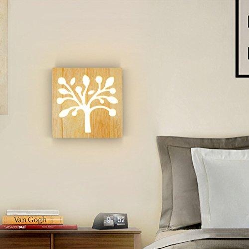 Kreativität Kleiner Baum14W Modern Design Gummi Holz LED Wandlampe Wandleuchte für Balkon Wohnzimmer Schlafzimmer Treppenhaus Flur Küche Wandbeleuchtung L200MM 220V IP20 Warmweiß 3000K (Syn-gummi)