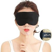 Masque de Sommeil, Masque de Nuit Soie, 100% Soie Naturelle Occultant Ultra-Douce Masque de Voyage Masque de Yeux Sommeil,Masque pour Dormir Soie, Masque Nuit Sommeil Soie avec pochette de voyage