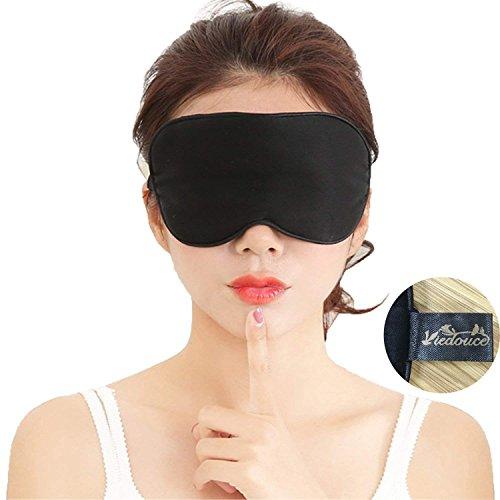 Viedouce Antifaz Dormir Avion Mascara Dormir Adultos Seda Mascara Ojos Dormir Antifaz Niños Hombre Mujer Ergonomico 100% Anti-Luz 100% Natural Seda Máscara de Sueño Noche Correa Ajustable Antifaces